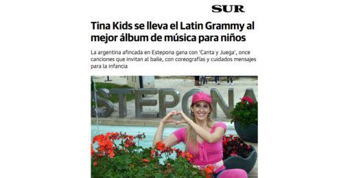 Tina Kids se lleva el Latin Grammy al mejor álbum de música para niños