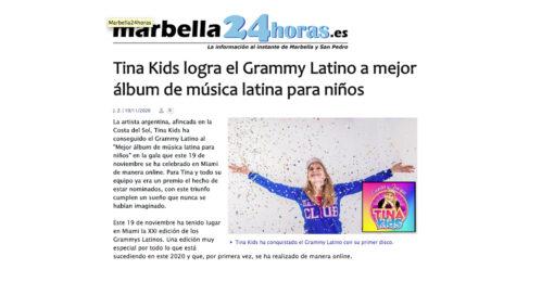 Tina Kids logra el Grammy Latino a mejor álbum de música latina para niños