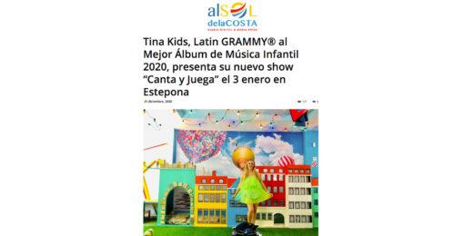 """Tina Kids, presenta su nuevo show """"Canta y Juega"""" el 3 enero en Estepona"""