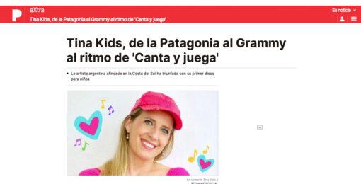 Tina Kids, de la Patagonia al Grammy al ritmo de 'Canta y juega'