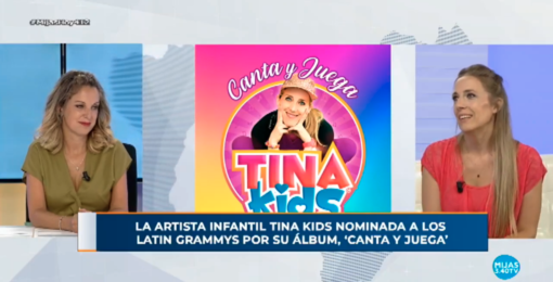 La artista infantil Tina Kids nominada a los Latin Grammys por su álbum, 'Canta y Juega'
